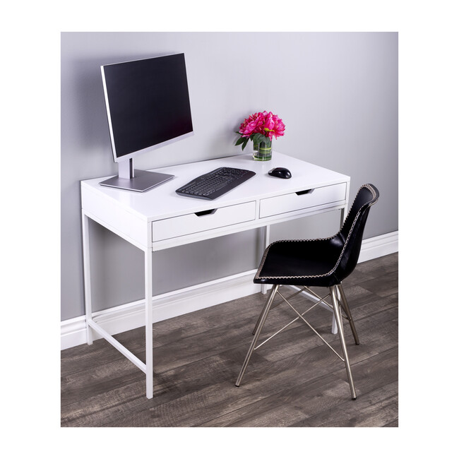 Belka Desk with Drawers, White