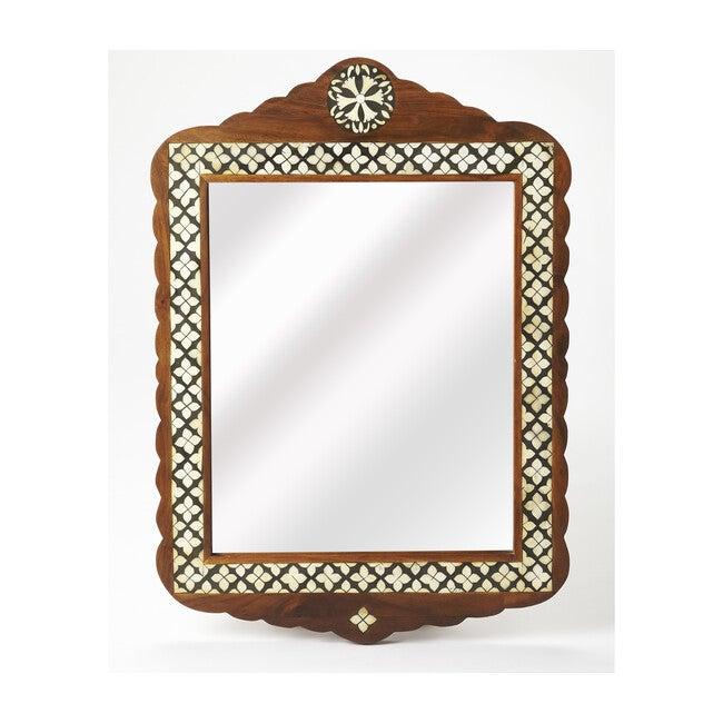 Gabby Wood/Bone Inlay Wall Mirror