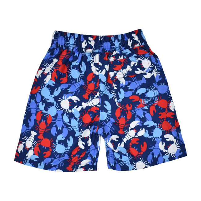 Wesley Swim Trunks with Mesh Liner, Lobster Party