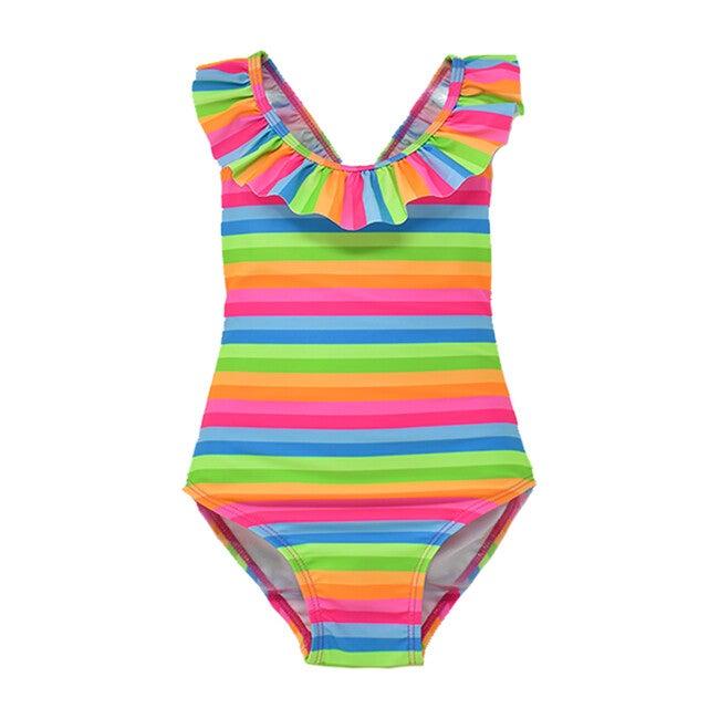 Mindy Crossback Swimsuit, Nest Stripe