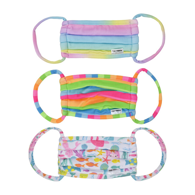 Kids Face Mack 3 pack, Rainbow Ombre, Nest Stripe & Fantasy Mermaids