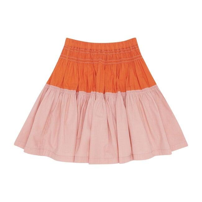 Gather Around Skirt, Calamine and Koi