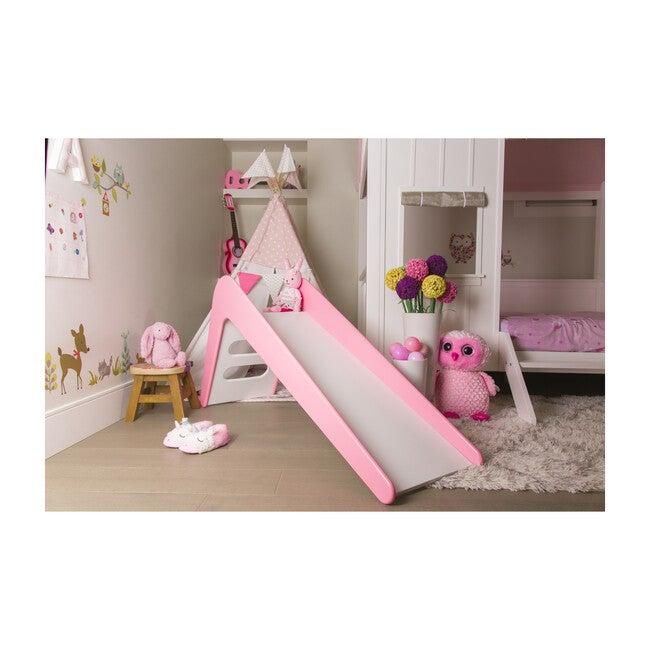 Modern Wooden Indoor Slide, Pink