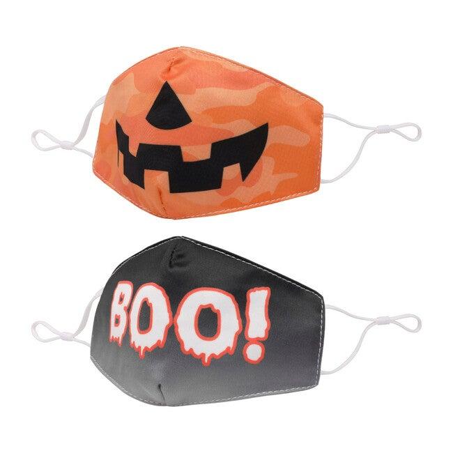 Camo Pumpkin and Ombre Boo Face Mask Set - Face Masks - 1