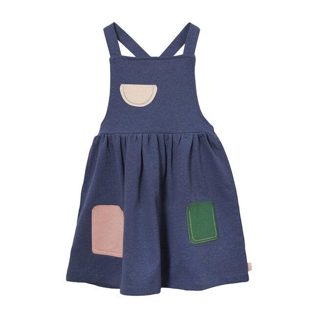 Apron Dress, Blue