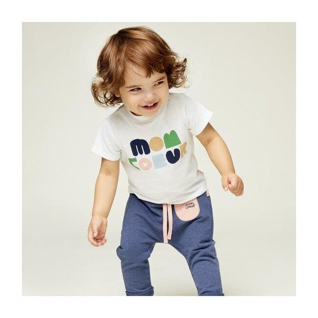 Baby T-Shirt, White/Blush