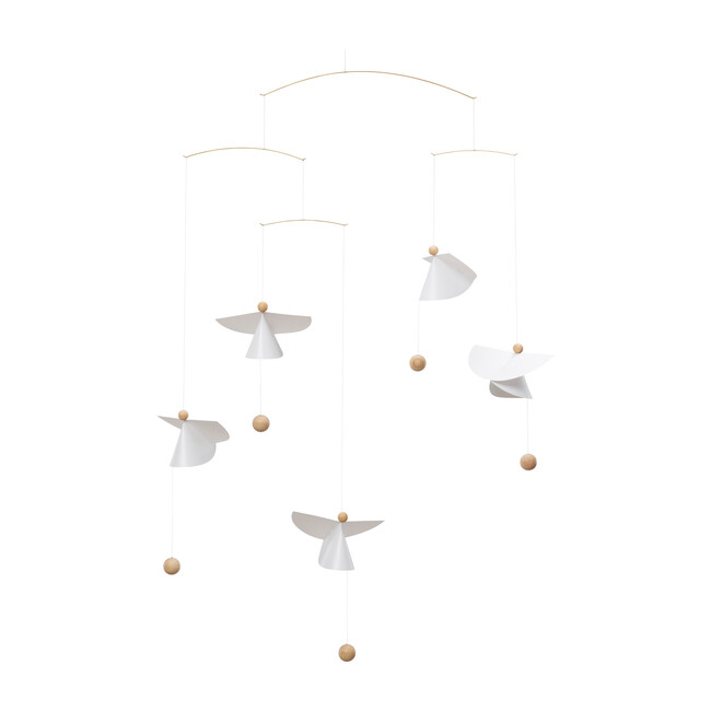 Guardian Angels 5 Mobile, White/Natural