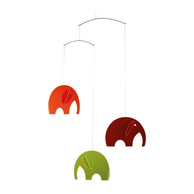 Elephants Acrylic Mobile, Bright