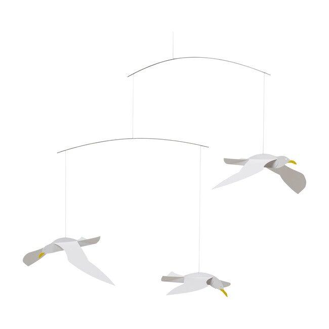 Soaring Seagull Mobile, White