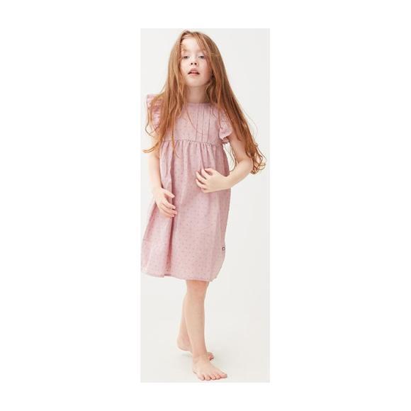 Swiss Dot Dress, Purple