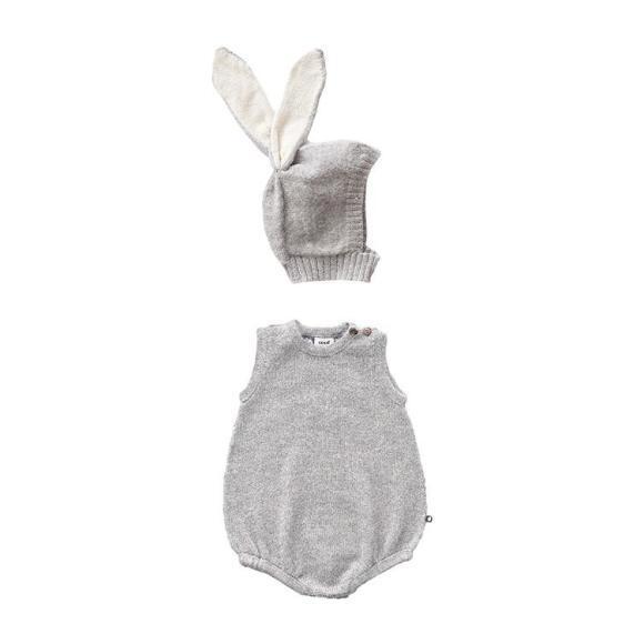 Two Piece Bunny Set, Grey