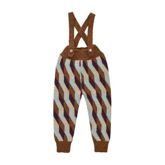Double Suspender Pants Hazelnut, Brown
