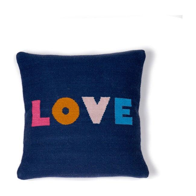 Wool Love Pillow, Navy