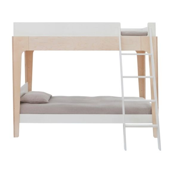 Perch Twin Bunk Bed, White/Birch