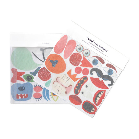 Repositionable Play Sticker Set, Faces