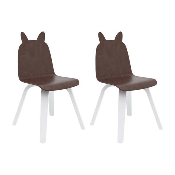 Set of 2 Rabbit Play Chairs, Walnut