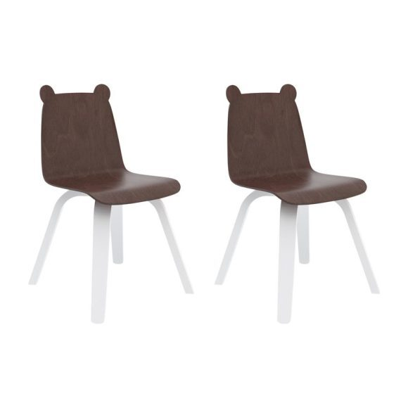 Set of 2 Bear Play Chairs, Walnut