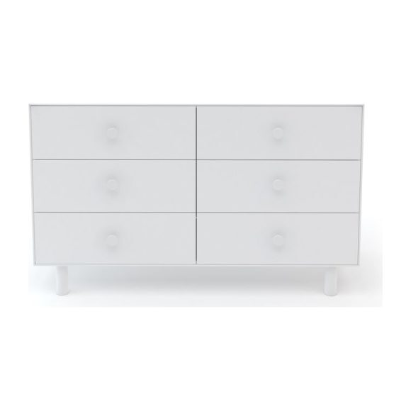 Classic Six Drawer Dresser, White