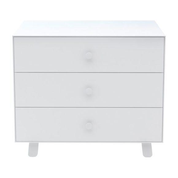 Sparrow Three Drawer Dresser, White