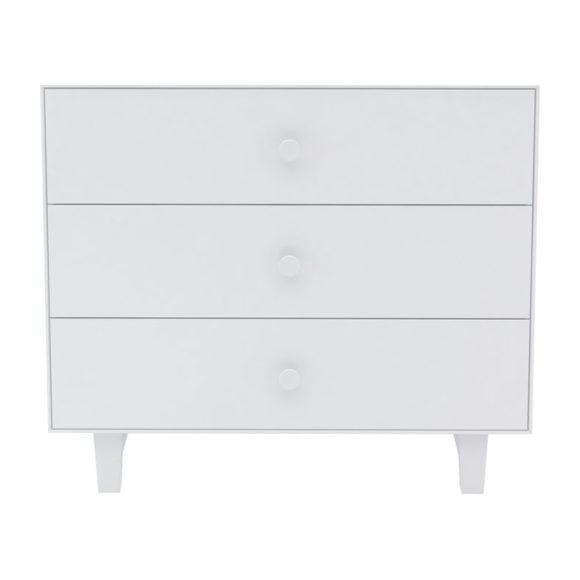 Rhea Three Drawer Dresser, White