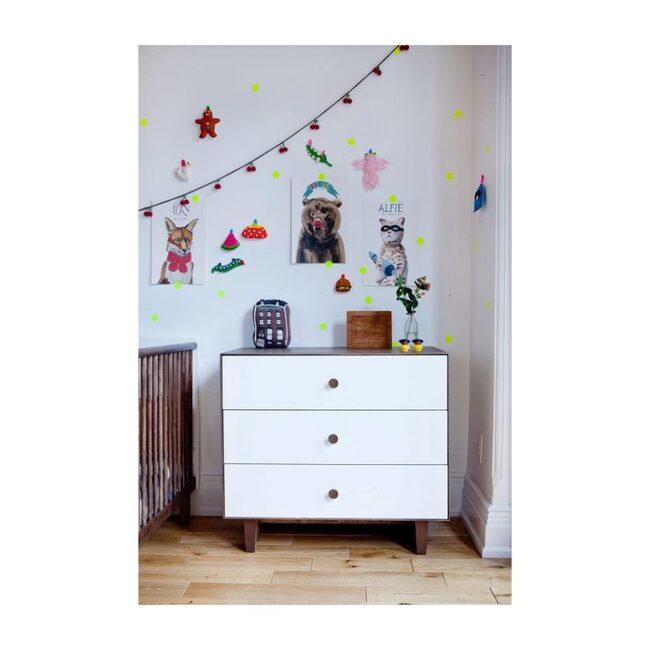 Rhea Three Drawer Dresser, Walnut