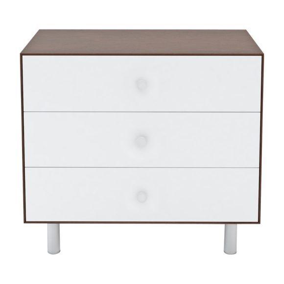 Classic Three Drawer Dresser, Walnut
