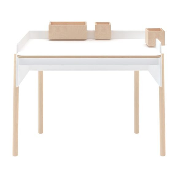 Brooklyn Desk, White/ Birch