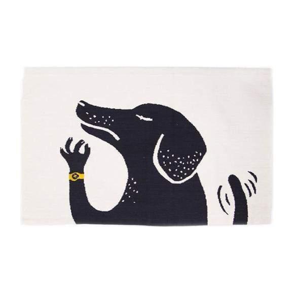 Dog Rug, Black/White