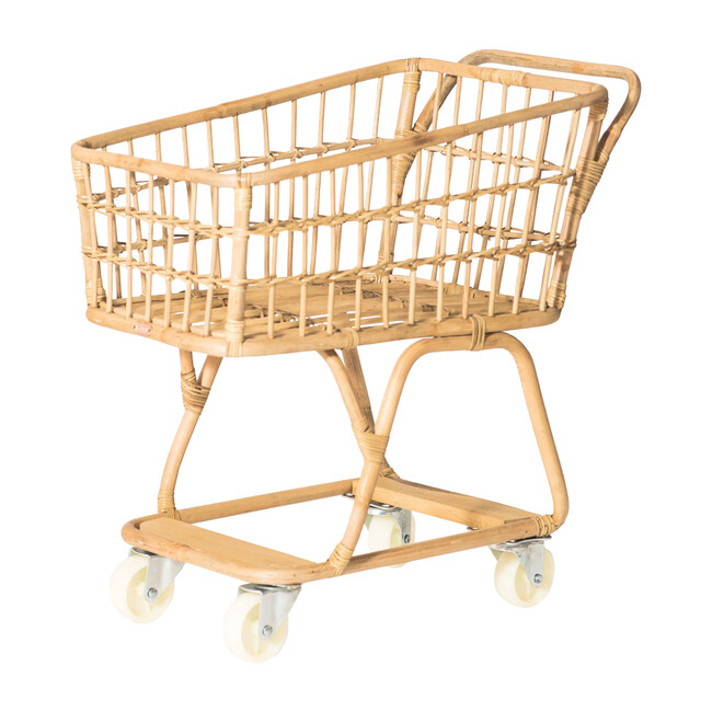 Rattan Shopper, Natural - Role Play Toys - 0