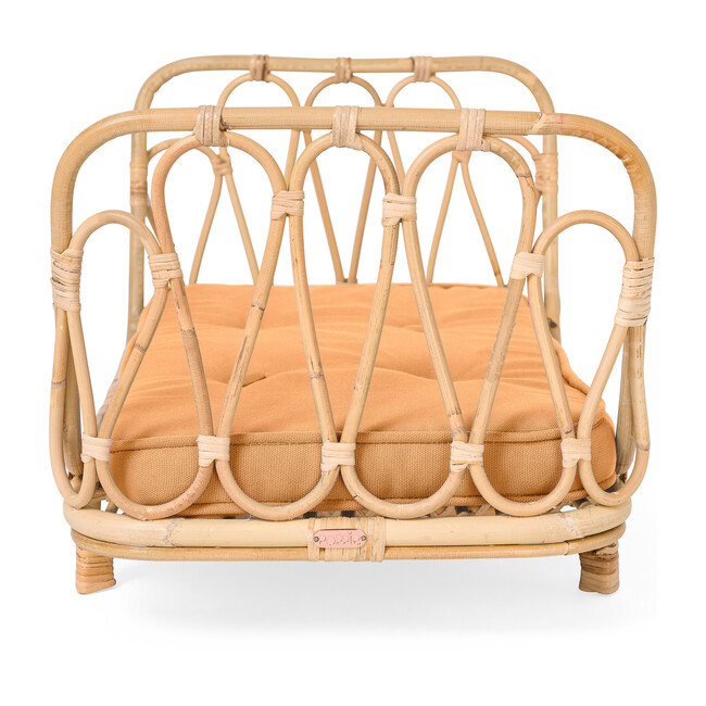 Rattan Doll Day Bed, Natural/Clay