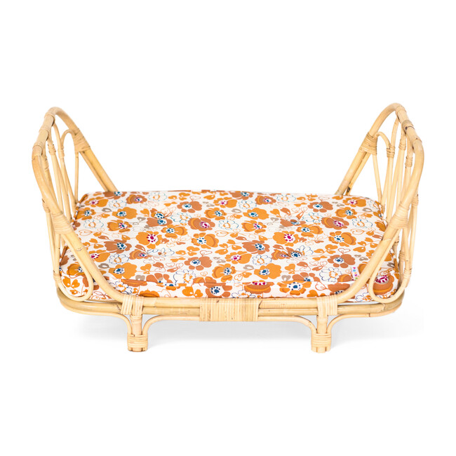 Rattan Doll Day Bed, Floral
