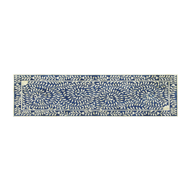 Vivienne Bone Inlay Bench, Blue