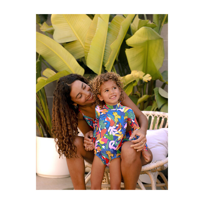 *Exclusive* Mini Kelly Long Sleeve Swimsuit, Jungle Roar