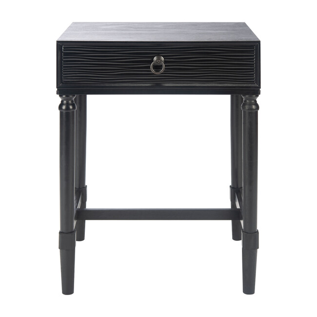 Mabel 1-Drawer Accent Table, Black