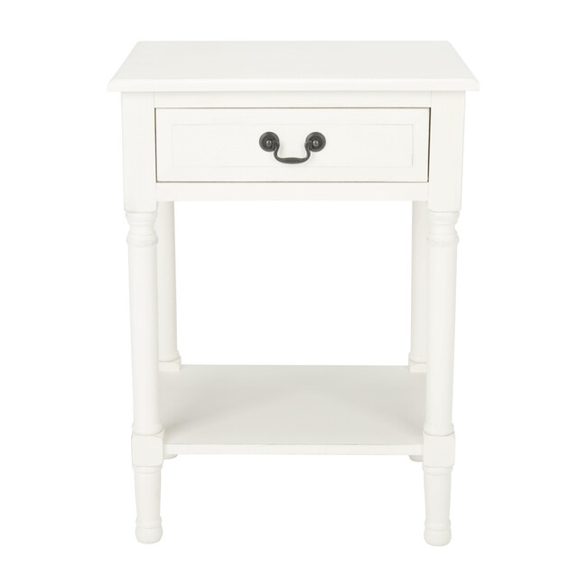 Whitney 1-Drawer Accent Table, White