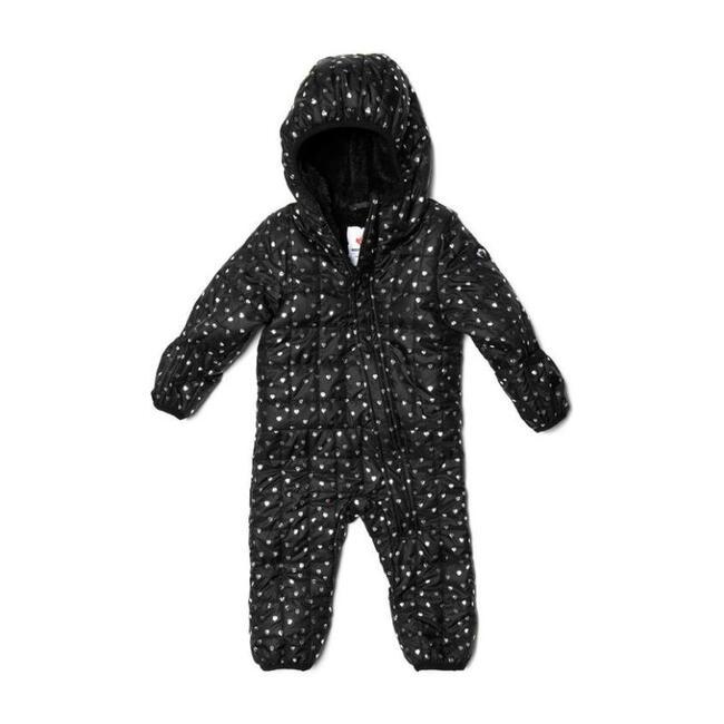 Star Print Snowsuit, Black