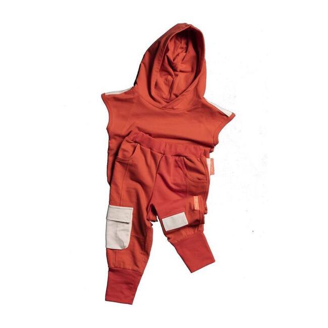 Hooded Tank & Pants Set, Coral