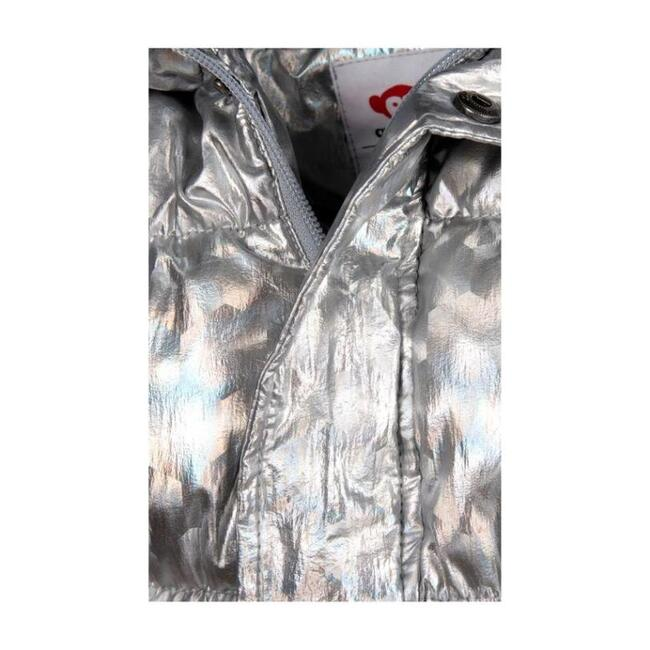 Illusion Puffy Coat, Silver
