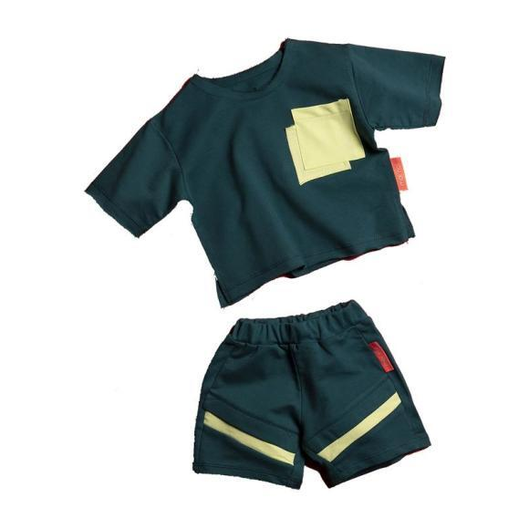 D-Pocket Outfit Set, Green