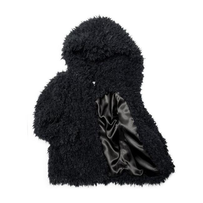 Cleo Fluffy Coat, Black