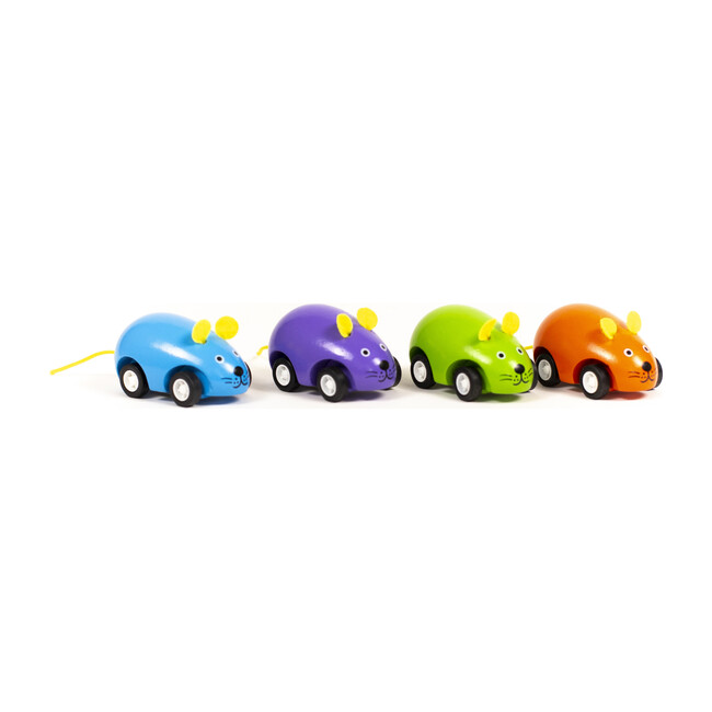 Pull Back Mice, Set of 4