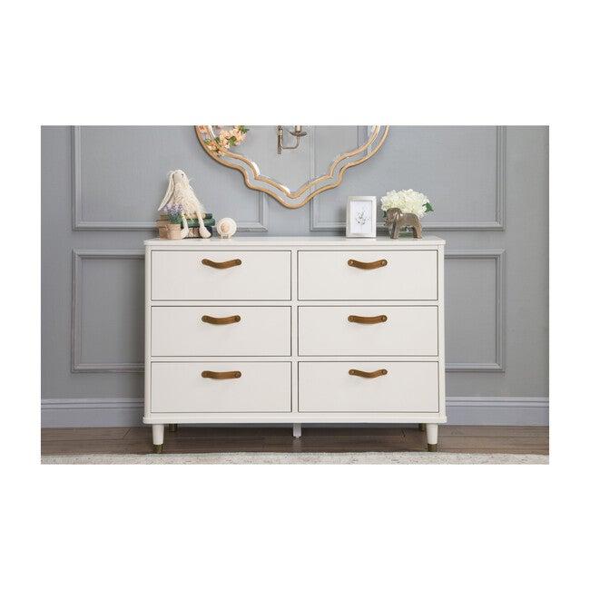 Tanner 6-Drawer Assembled Dresser, Warm White