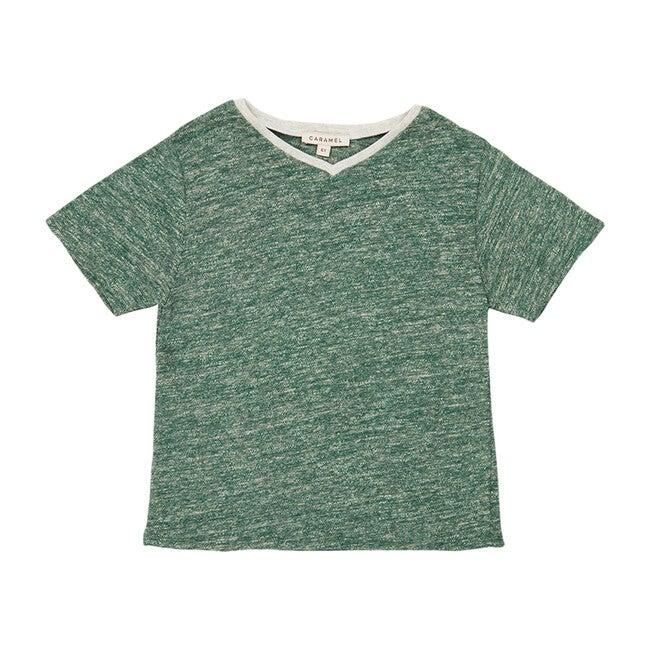 Shark T-Shirt, Green Melange
