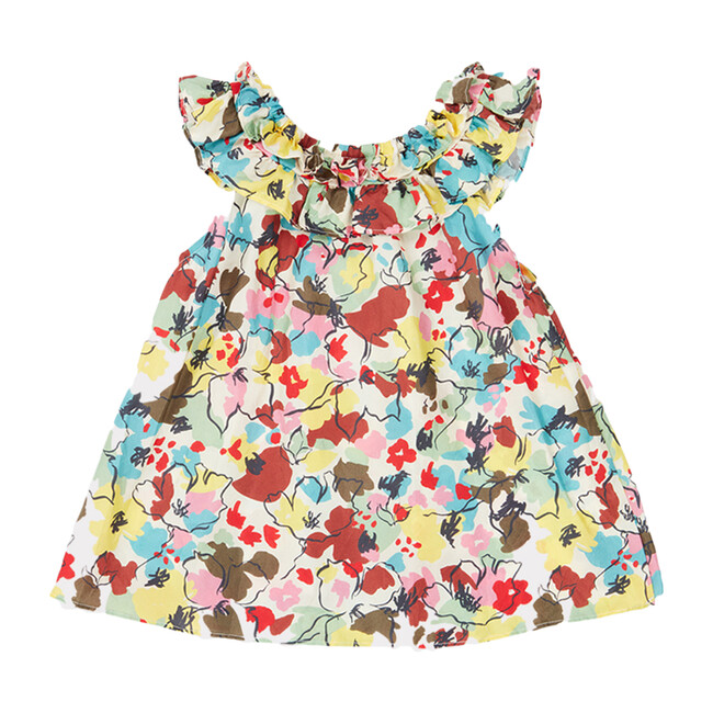 Mulloway Baby Dress, Painted Flower