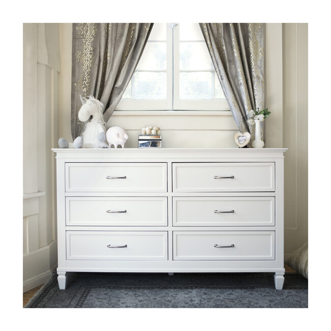 Darlington 6-Drawer Assembled Dresser, Warm White
