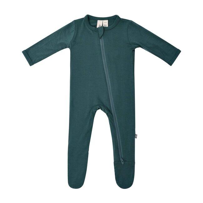 Zippered Footie, Emerald