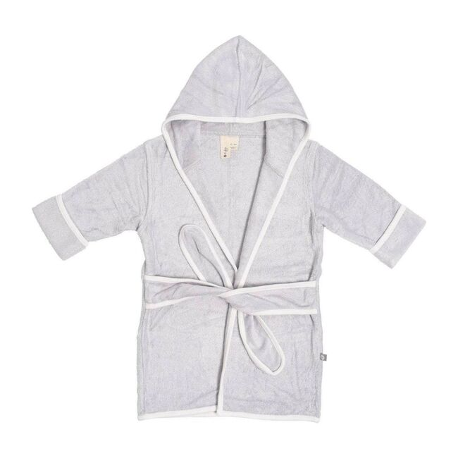 Toddler Bath Robe, Storm with Cloud Trim