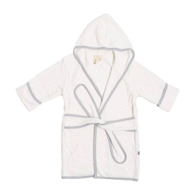 Toddler Bath Robe, Cloud with Storm Trim