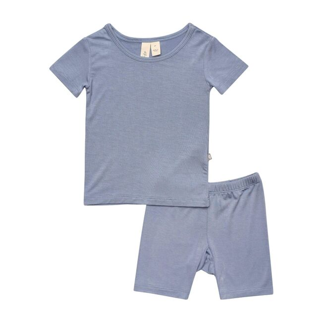 Short Sleeve Toddler Pajama Set, Slate