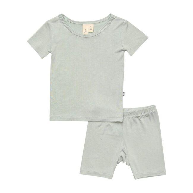 Short Sleeve Toddler Pajama Set, Sage
